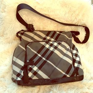 Women s Burberry Black And White Check Handbag on Poshmark a20ef0413510d